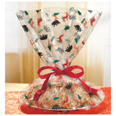 Amscan Christmas Cozy Cellophane Cookie Tray