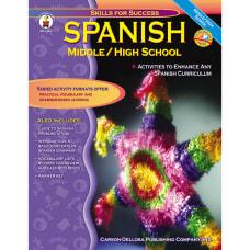 Carson Dellosa Spanish For Middle And