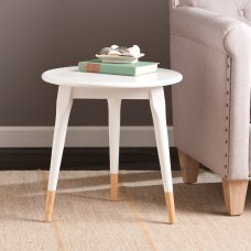 Southern Enterprises Alden Side Table Round