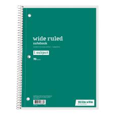 Just Basics Spiral Notebook 8 x