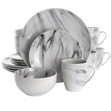 Elama Fine Marble 16 Piece Dinnerware
