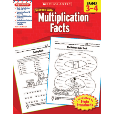 Scholastic Success With Multiplication Facts Workbook