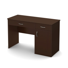 South Shore Axess Straight Desk Chocolate