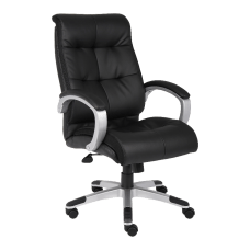 Lorell Tufted Executive Ergonomic Bonded Leather