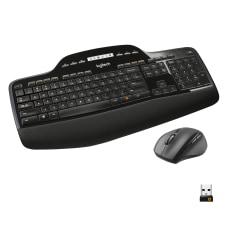 Logitech Wireless Keyboard Mouse Straight Full