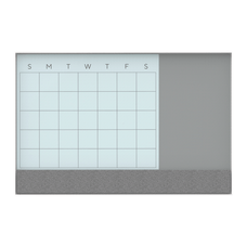 U Brands 3N1 Framed Monthly Calendar