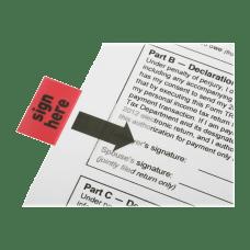 SKILCRAFT Self Stick Flags Rectangular Sign