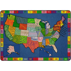 Flagship Carpets My America Doodle Map