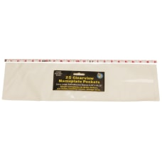 Ashley Productions Nameplate Pockets Clearview 5