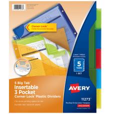 Avery Big Tab 3 Pocket Insertable