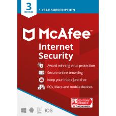 McAfee Internet Security 3 Devices Antivirus