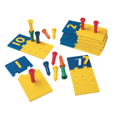 Playmonster Number Puzzle Boards And Pegs