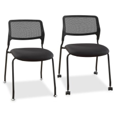 Lorell Armless Stackable Guest Chair MeshFabric