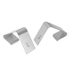 Quartet Partition Board Hangers Silver Pack