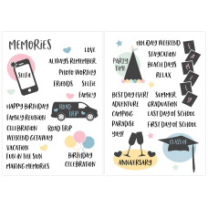 Office Depot Organization Stickers Memory Assorted