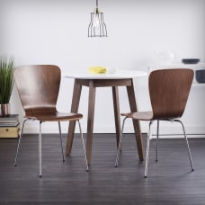 Holly Martin Cadby Side Chairs WalnutChrome