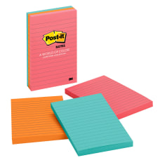 Post it Notes Lined 4 x