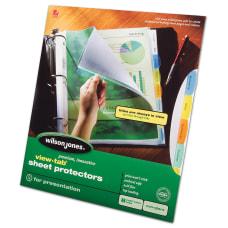Wilson Jones View Tab Sheet Protectors