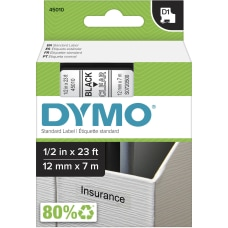 DYMO D1 Standard Labels Tape Black