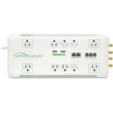 Compucessory Slim 10 Outlet Surge Protector