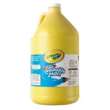 Crayola Washable Paint Yellow Gallon