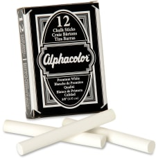 Alphacolor Chalk Sticks Premium White 38