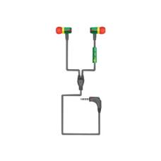 GOgroove AudioOHM RNF Earbud Headphones Rasta