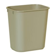 Rubbermaid Durable Polyethylene Wastebasket 3 14