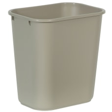 Rubbermaid Durable Polyethylene Wastebasket 7 Gallons