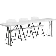 Flash Furniture Plastic Folding Training Table