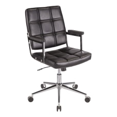 LumiSource Bureau Contemporary Office Chair BlackChrome