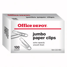 Office Depot Brand Paper Clips Jumbo