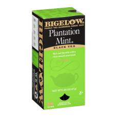 Bigelow Plantation Mint Tea Bags Box