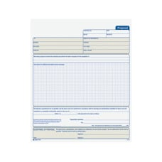Adams Proposal Form Book
