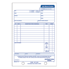 Adams Carbonless Job Work Order Book