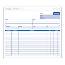 Adams 3 Part Carbonless Invoice Form