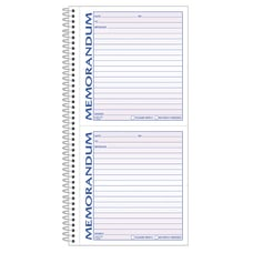 Adams 2 Part Spiral Memo Book