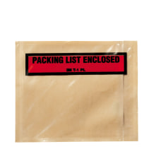 3M Top View Packing List Enclosed