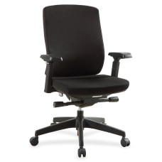 Lorell Multifunction Mid Back Chair Fabric