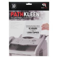Advantus Pathkleen Laser Printer Cleaning Sheets