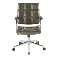 LumiSource Bureau Contemporary Office Chair GreenChrome