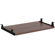 Lorell Laminate Universal Keyboard Tray Walnut