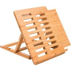 Lipper Bamboo Expandable iPad Stand 24
