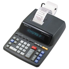 Sharp EL 2196BL Printing Calculator Black