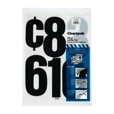 Chartpak Press On Vinyl Numbers 6