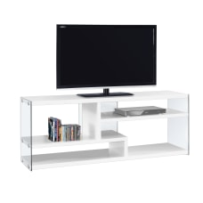 Monarch Specialties TV Stand Glass For