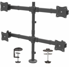StarTechcom Quad Monitor Mount Articulating Clamp