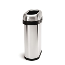 simplehuman Slim Oval Metal Open Trash
