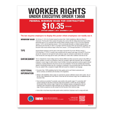 ComplyRight Federal Contractor Minimum Wage Poster
