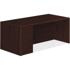 HON 10700 Series Single Pedestal Desk
